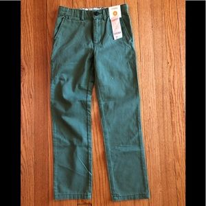 New Boys Gymboree Green Pant Adjustable Waist Sz 8